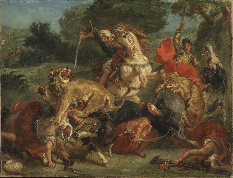 The Lion Hunt by Eugène Delacroix